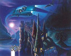 Mary GrandPre - Harry Potter - The Enchanted Car - world-wide-art.com