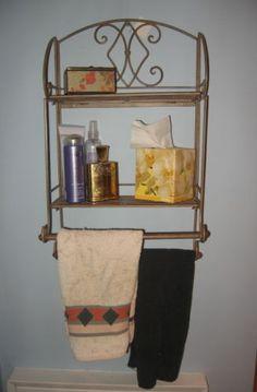 Cottage Wicker Medicine Cabinet Wall Shelf Wicker