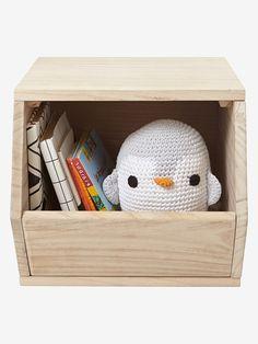 Holz-Aufbewahrungsbox für Spielzeug - NATUR - 1
