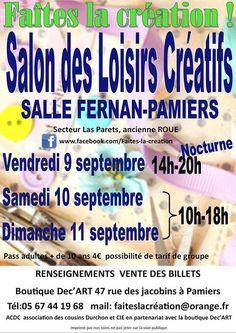 Le Salon des Loisirs Créatifs de Pamiers se déroule du 9 au 11 septembre 2016…