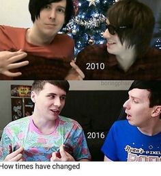 Is this the first time that Dan's shirt is brighter than Phil's?<< woah it is