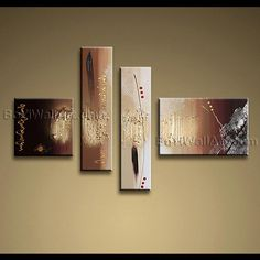 Beautiful Contemporary wall art oil paintings of Abstract. Direct from Bo Yi Art Studio. It is with great pleasure to offer you this stunning 4 panel(s) wall art! This painting is created and hand painted by us, it is well stretched with inner frame, read Modern Canvas Art, Contemporary Wall Art, Modern Art, Panel Wall Art, Canvas Wall Art, Cool Art Projects, Artwork Images, Bathroom Wall Art, Texture Art