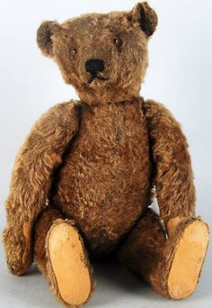 EARLY STEIFF MOHAIR TEDDY BEAR -- Antique Price Guide Details Page