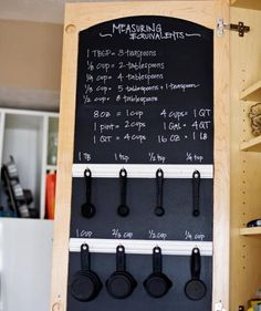 Kitchen: Chalkboard Cupboard | Who says a room-by-room makeover has to break the bank? These DIYs take an afternoon (or less) and will give your home a much-needed refresh.