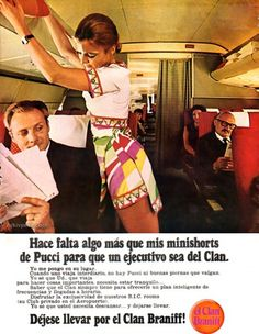 """The 1960s Pucci Air Hostess Uniforms, ideal for Mile High """"Stripping"""""""