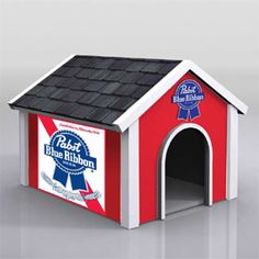 PABST DOG HOUSE...my dog needs this