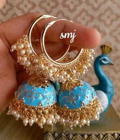 Indian Jewelry Earrings, Indian Jewelry Sets, Jewelry Design Earrings, Ear Jewelry, Cute Jewelry, Jewelry Shop, Antique Jewellery Designs, Fancy Jewellery, Stylish Jewelry