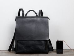 Diseño único cuero mochila bolsillos múltiples por TheArtistsSack