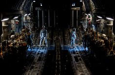 #82nd Airborne Division ...... U.S. Soldiers assigned to the 82nd Airborne Division prepare to jump from an Air Force C-17 Globemaster III aircraft March 27, 2014, over an undisclosed location in the U.S. during exercise Raging Moose. The large-formation exercise was designed to meet more than 500 operational and training objectives and included airdrops, aerial refueling operations and aerial formations.