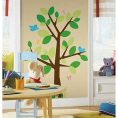 Beautiful RoomMates Wandsticker Wandbild Baum Punktebl tterbaum