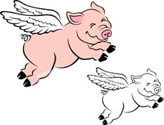 Flying pig-my next tattoo?? no color tho