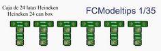 Beer boxes 1/35 scale FCModeltips . Federico Collada: Cajas de 24 botes de cerveza / 24 beer can box