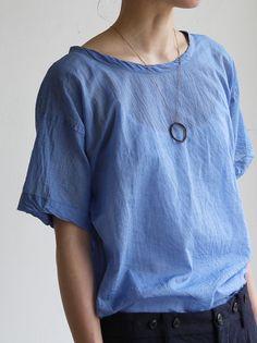ARTS&SCIENCE Big T-shirt 2~yarn dyed fine lawn cotton 2
