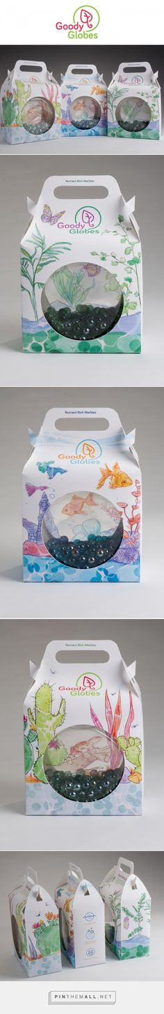 Graphic design, illustration and packaging for Goody Globes on Behance by Leticia Monroe Ithaca, NY curated by Packaging Diva PD.  Fun for the packaging smile file : )
