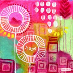 Energy Mini original painting: Hope // by Jessica Swift. Only one available -- great last-minute meaningful gift!