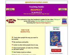 Teaching Respect Worksheets | Lesson Planet