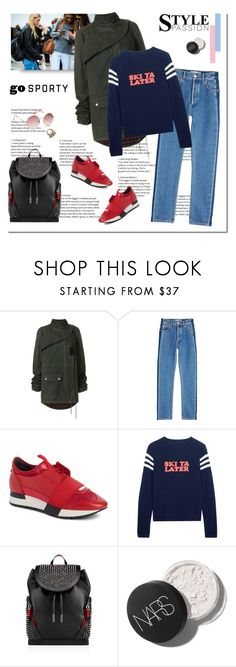 """""""Go Sporty on Monday"""" by shoptillyadrop ❤ liked on Polyvore featuring Erdem, Yves Saint Laurent, Balenciaga, Chinti and Parker, Christian Louboutin and Roxy"""