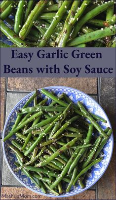 20 minute vegetarian stir fry anyone? Easy Garlic Green Beans with Soy Sauce is such an addictively fresh & flavorful side dish using fresh green beans & lots of garlic. Green Bean Recipe With Soy Sauce, Sweet Soy Sauce Recipe, Soy Sauce Green Beans, Stir Fry Green Beans, Recipes With Soy Sauce, Garlic Green Beans, Fried Green Beans, Green Bean Recipes, Asian Green Beans