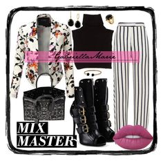 """#PatternMixing"" by gabriellaaudiamarie on Polyvore featuring LE3NO, Marc Jacobs, Giuseppe Zanotti, Nicholas, Yves Saint Laurent, Effy Jewelry, David Yurman, Valentin Magro, Lime Crime and patternmixing"