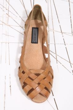 Hettie Tan Cut Ballerina Shoes at Urban Outfitters