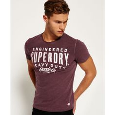 Mens - Work Wear Over Dyed T-shirt in Fig Marl Dye T Shirt, Superdry, Work Wear, Tees, Shirts, Shop Now, Athletic, Fig, Long Sleeve