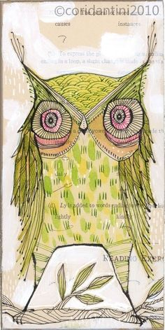 green owl print go lightlyarchival and limited edition 5 by corid, $20.00