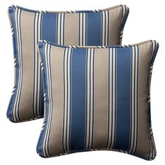 Pillow Perfect Decorative Square Toss Pillow (Set of 2) | Wayfair