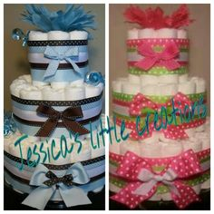 Pamper cakes great for a baby shower