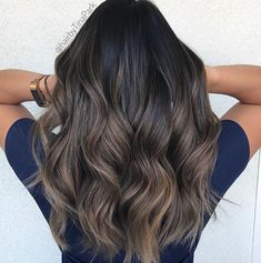 75 Brilliant Balayage Hair Color Ideas 75 Brilliant Balayage Hair Color Ideas - Station Of Colored Hairs Dark Ombre Hair, Brown Blonde Hair, Ombre Hair Color, Hair Color Balayage, Brown Hair Colors, Cool Hair Color, Brunette Hair, Haircolor, Balayage Highlights Brunette