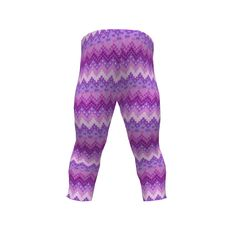 Brindille and Twig Toddler Leggings made with Spoonflower designs on Sprout Patterns. Christmas Ho ho ho Purple chevron fabric by Magenta Rose Designs at Spoonflower/ leggings for toddlers by Brindille & Twig