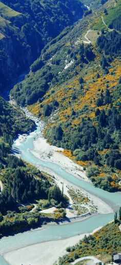 Shotover River near Queenstown - South Island, New Zealand