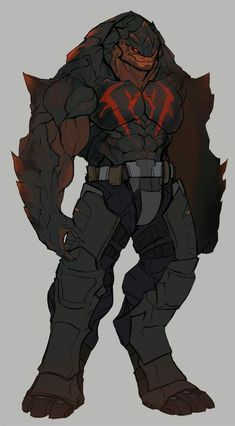 Jorgul Staika is an old, friendly krogan that has stopped caring about shirts! He is also a good friend of Xern's and helps the turian out with salvage hauls. (You'll have to forgive me putting BEEF AND ABS on all aliens I KNOW IM THE WORST. Alien Concept Art, Creature Concept Art, Creature Design, Fantasy Character Design, Character Design Inspiration, Character Art, Alien Creatures, Fantasy Creatures, Alien Design