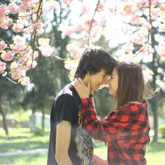 Love couple photography spring