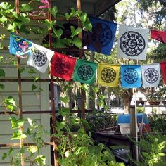 Dharma Prayer Flags with Tibetan by EasternSunPrintworks on Etsy, $18.00