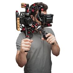 Sweet set up for the DSLR. Shoulder mount with eye piece to view monitor. http://www.zacuto.com/panasonic-lumix-gh4?utm_source=zacuto&utm_medium=slide&utm_campaign=gh4-slider