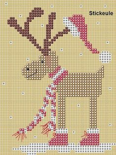 Stickeules Freebies: a collection of Christmas needle point patterns