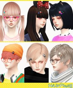 [HairPins!! L and R sets.]DOWNLOAD/MediaFiremesh by me. for male and female.category:Accessory/Ring. *M,F,U is same hairpins.these have different positions.You can choose a pin in the favorite...