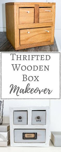 Simply Beautiful By Angela :Thrifted Wooden Box Makeover