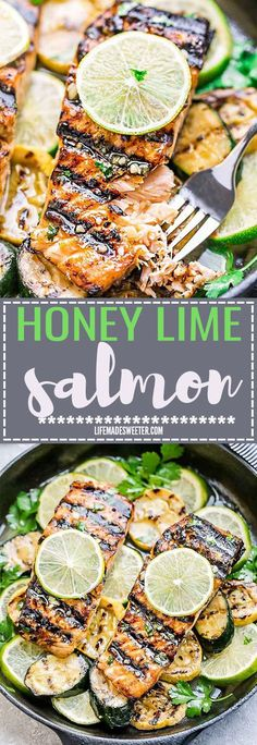 This Honey Lime Salmon is a light and tasty dish that is just perfect for summer and busy weeknights. Best of all, it can be made on the grill or in your oven marinated with a delicious sweet and tangy honey and lime butter sauce. The salmon gets cooked to tender flaky perfection every time! Clean up is a breeze if you want to cook it in foil packs or cook it directly on the grill for those pretty grill marks!