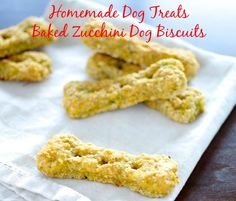Homemade Dog Treats –  Baked Zucchini Dog Biscuits