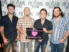 Eli Young Band participating in Salvation City's HOPE Poster Campaign for suicide prevention and awareness.