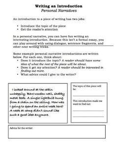 By Emily Kissner. Completely revised and updated for 2012. Everything you need to teach personal narratives to meet Common Core Standards. Students...