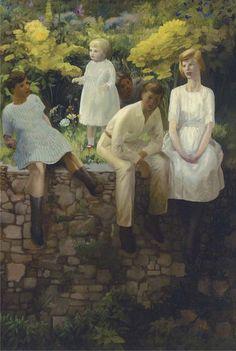 Count Tossa's Children, 1920's, Hilda Carline. (1889 - 1950)