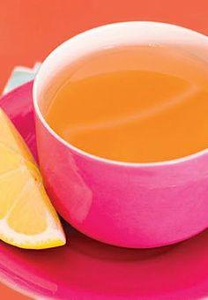 I ❤ NARANJA + MAGENTA. Taza con limón.