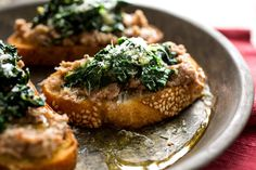 Bruschetta With Smashed Beans, Sage and Kale #vegetarian