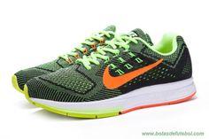size 40 bbfe4 bf445 lojas de chuteiras baratas Nike Zoom Structure 18 683731-700 Preto Volt  Laranja Masculino