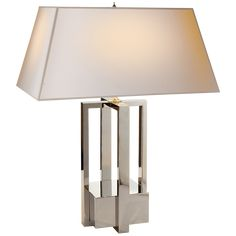 Polished Nickel with Natural Paper Shade