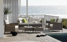 Combining the classic shape and form of traditional terrace furniture, the Beaumont range is inspired by the sea and sand. Relaxation is at the core of these beautiful pieces offering fresh and current designs for your outdoor space. The frames are woven using a very natural looking synthetic fibre for durability and cushions in a...  Read more »
