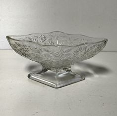 Clear Indiana Glass Footed Sherbet Bowl Candy Dish by VintageByRobin on Etsy