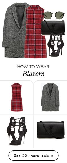 """""""Christmas"""" by dceee on Polyvore featuring Zara, Topshop, Yves Saint Laurent, Giuseppe Zanotti and Ray-Ban"""